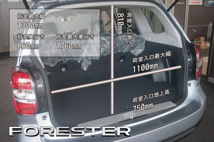 フォレスター荷室サイズ